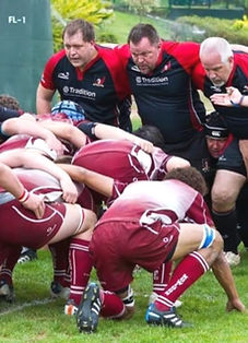 Rugby Players in Scrum. Atheltes Playing Sports. Sports Injury & Pain Managment Health Wise Acupuncture Hong Kong