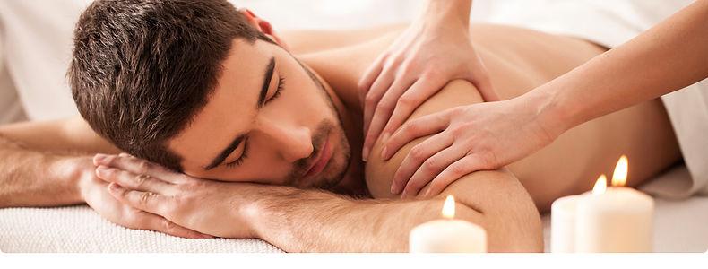 Men receiving a massage