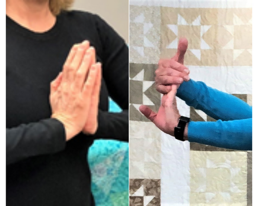 3 Carpal Tunnel stretches for quilters, knitters, stampers and all makers.