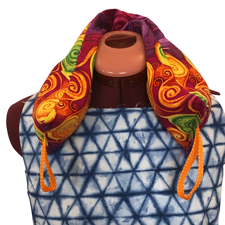 red orange Neck Flaxseed heat wrap on white.png