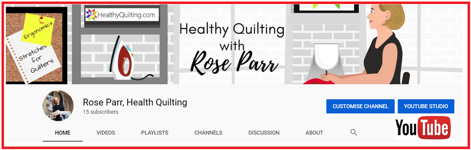 Stretches for Quilters & Pain-Free Quilting Tips are now on YouTube