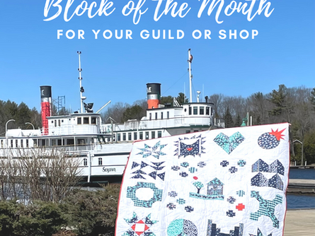"""Free Block of the Month Program """"Sew Grateful for 2021"""""""