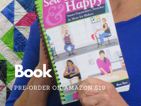 "Read all about it!  My new book ""Sew Healthy & Happy"" is now available to preorder."