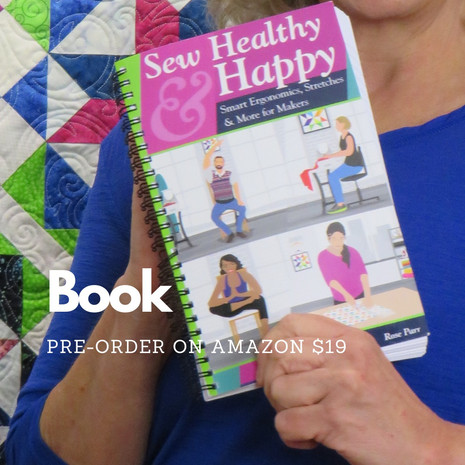 """Read all about it!  My new book """"Sew Healthy & Happy"""" is now available to preorder."""