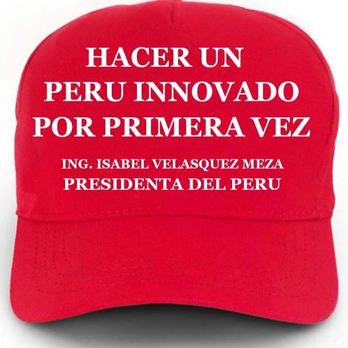 Gorro oficial Isabel Velásquez Hacer un Perú innovado por primera vez