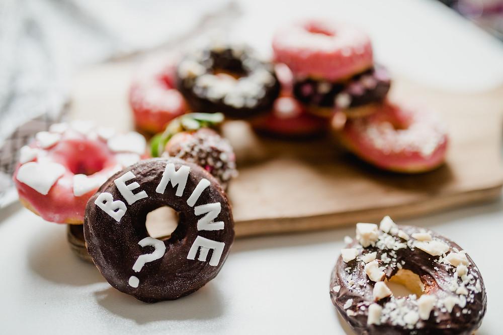 Vegan Valentines Doughnuts