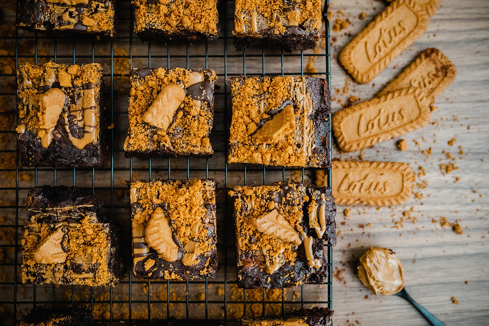 Vegan Biscoff Brownies