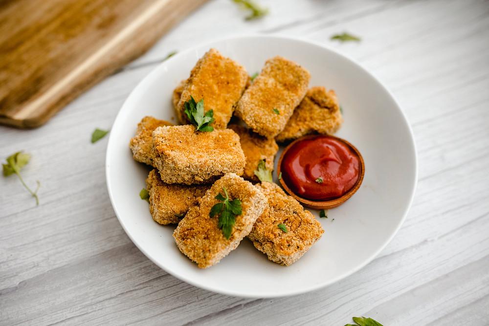 Vegan Baked Tofu Nuggets
