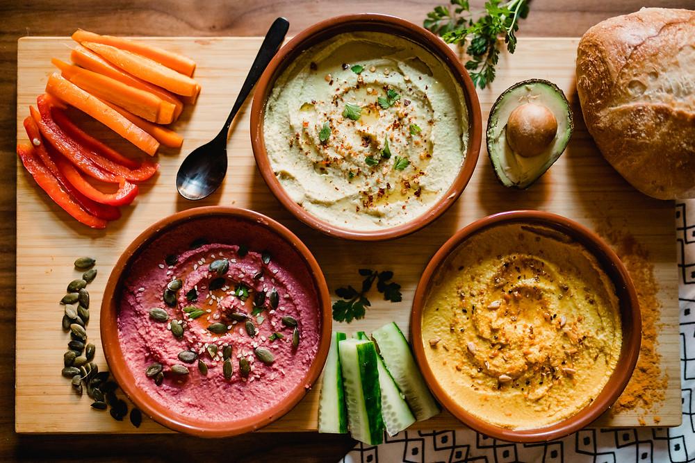 Trio of Hummus