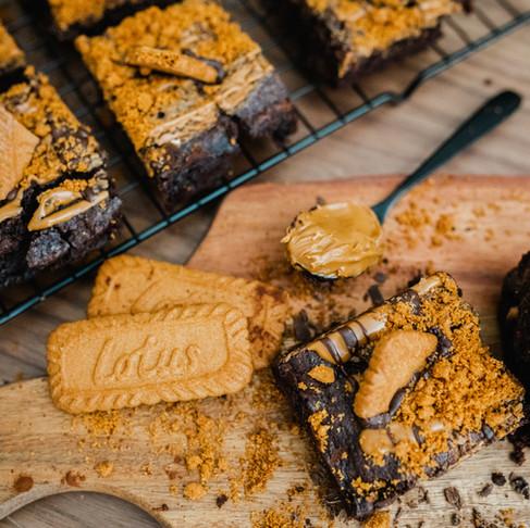 Vegan Biscoff Brownies