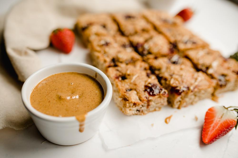 Vegan Peanut Butter & Jelly Blondies
