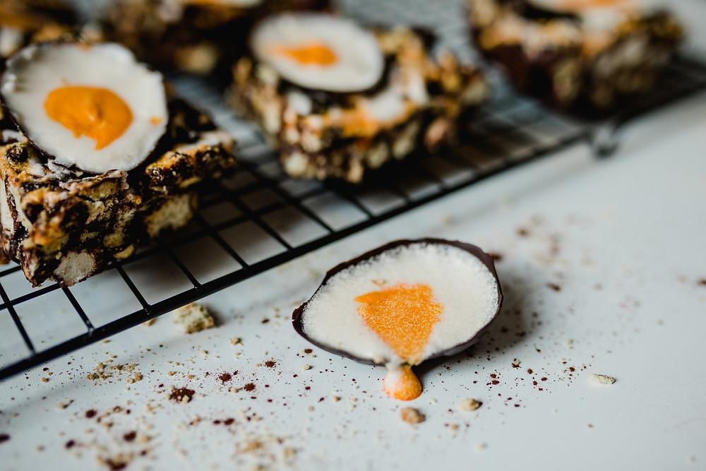 Vegan Creme Egg Rocky Road