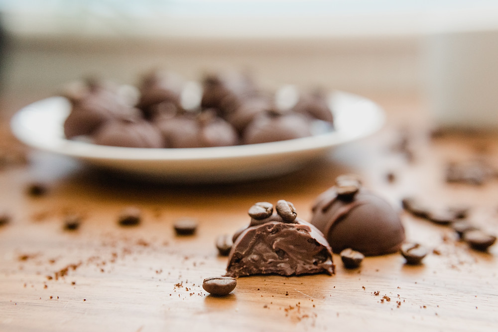 Vegan Coffee Ganache Chocolates