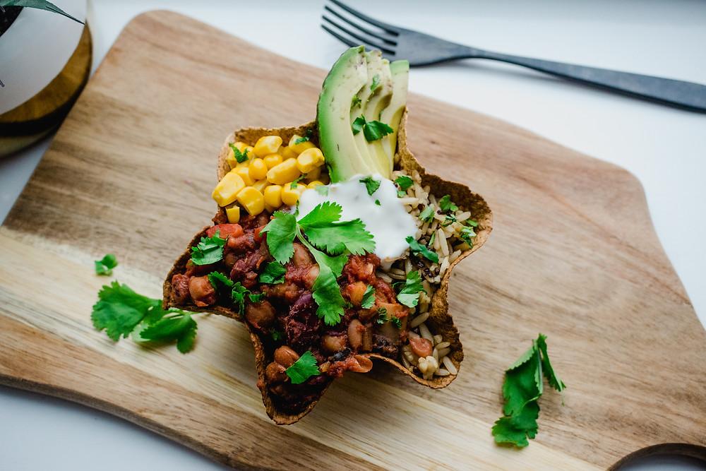 Vegan Bean Chilli Bowl