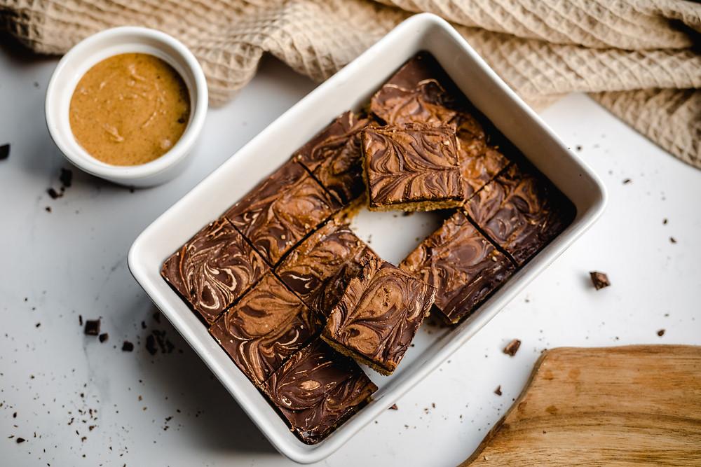 Vegan Chocolate Peanut Butter Bars