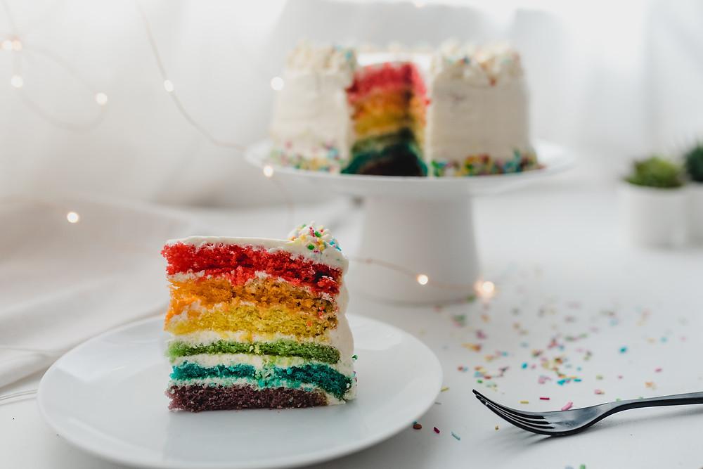 Vegan Rainbow Cake