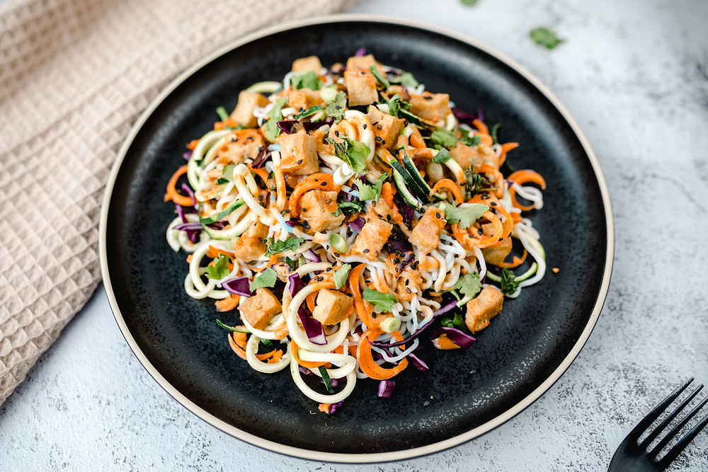Vegan Satay Noodle Salad