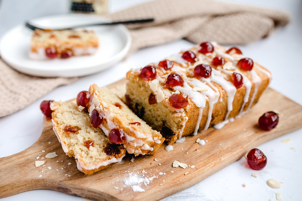 Vegan Cherry Almond Loaf Cake