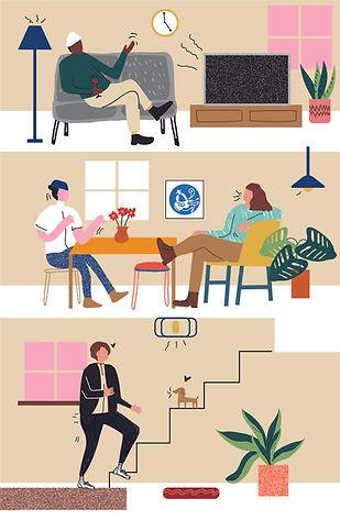 Big Family Illustration by Sue Bendek