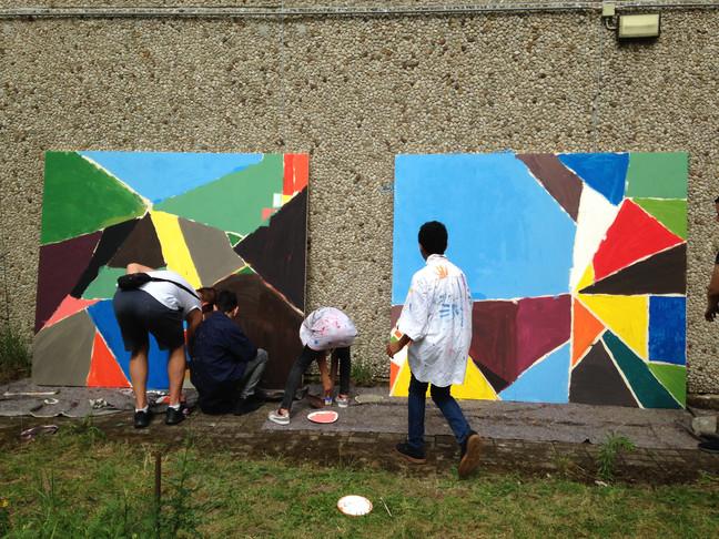 Kunstworkshop in der Gesamtschule Rosenhöhe