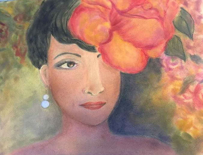 Meet Camilla's Spring,  Pastel drawing.jpg   Searching for the perfect frame, can be challenging.jpg