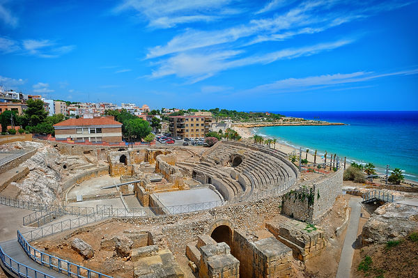 Ancient roman amphitheatre of Tarragona,