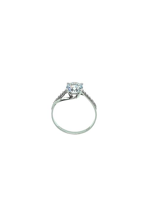 Λευκό Χρυσό Δαχτυλίδι Μονόπετρο
