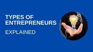 Types of entrepreneurs explained