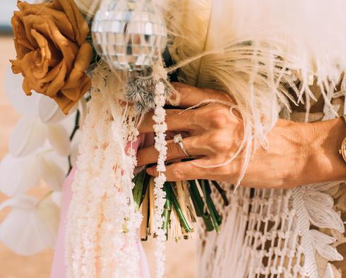 disco ball bridal bouquet
