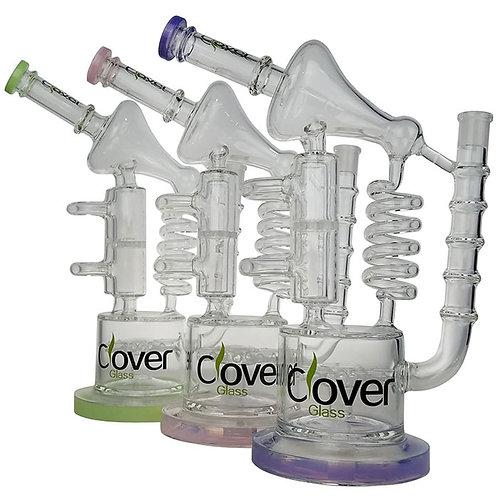 """Clover Colored Lip Multi Perc 13"""" Water Pipe"""