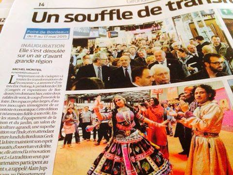 DHOAD is in News Paper in Sud Ouest