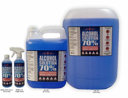 Alcohol Solution 70%- GENERAL HAND SANITIZING LIQUID
