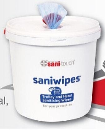 Sani Safe 5L 1000 Wipes. 80% Ethanol - Hand & Surface Wipe. 80% Ethanol Wipes