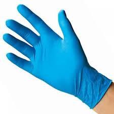 Gloves Nitrile Examination Non Powered Blue Bx 100