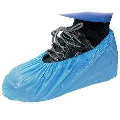 Overshoes Plastic Blue Pkt 100