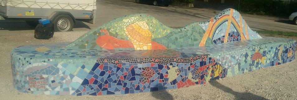 Mosaikbank Eching