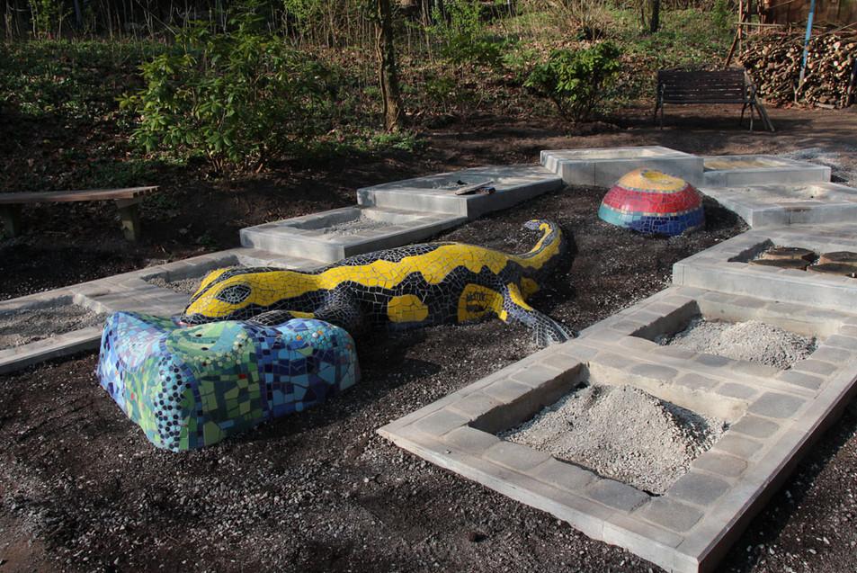 Salamander im Kneipp-Garten