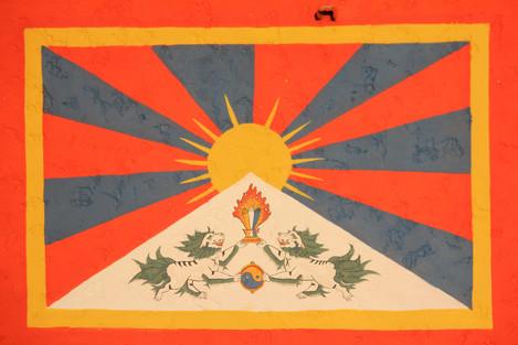 Wandgemälde Tibet