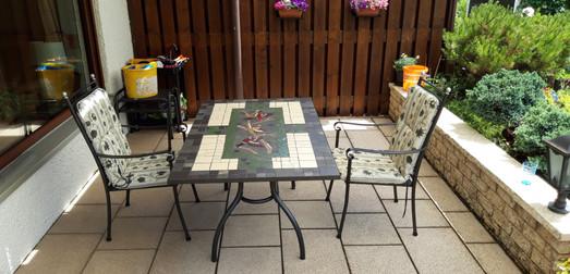 Auftragsarbeit Mosaiktisch/comissioned tabletop