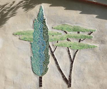 Wandmosaik in der Toskana