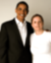 Laura Duffy and Barack Obama photo shoot for Audacity of Hope with photographer Deborah Feingold