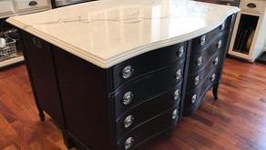 POSITIVELY CHIC | Plainfield Designer Turns Two Dressers Into a Beautiful Kitchen Island