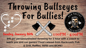 BULLSEYES FOR BULLIES | Fundraiser to Axe Out Bullying in Plainfield