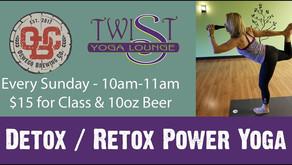 DETOX & RETOX | Power Yoga with a Twist of Beer in Oswego