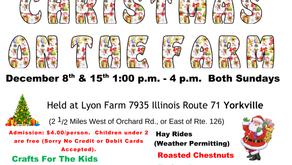 CHRISTMAS ON THE FARM   Lyon Farm Hosts Holiday Fun in Yorkville