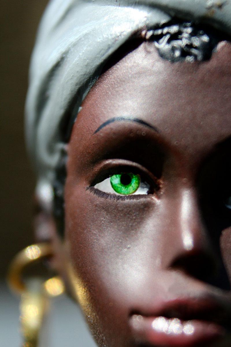 Pige med grønne øjne