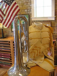 Band uniform and bugle
