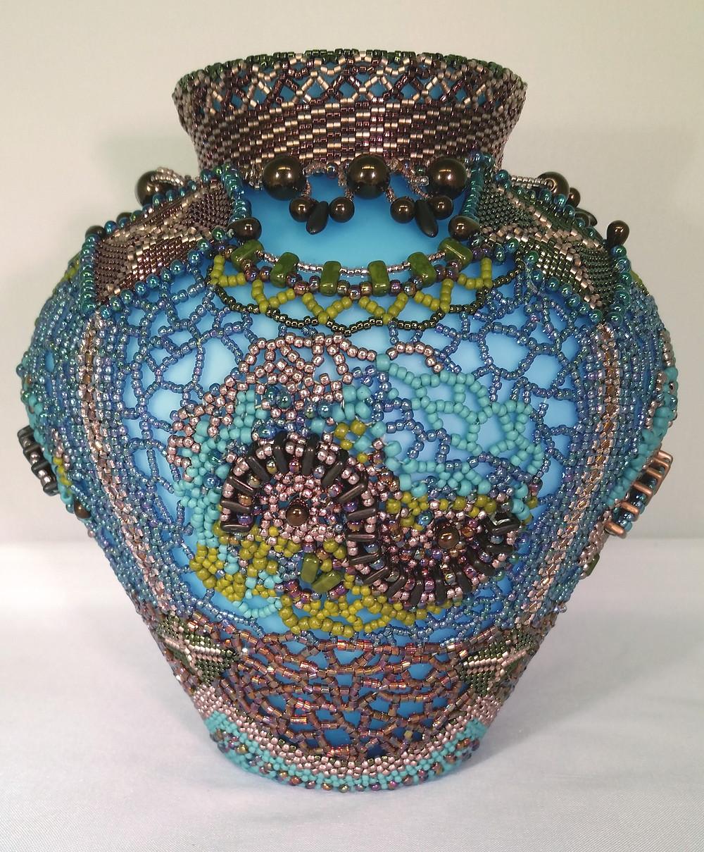 Beaded Vase