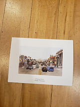 Holiday card featuring Chestnut Street circa 2003.