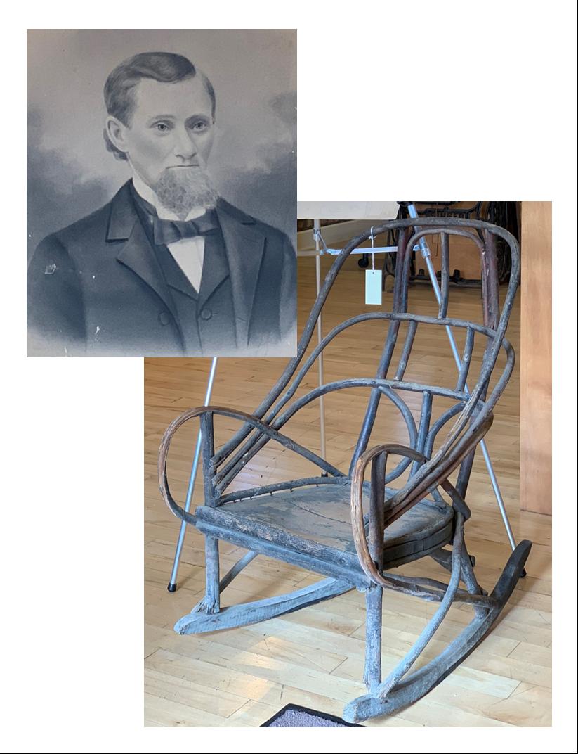 John Thomas Aspden, Jr. and bent wood rocking chair
